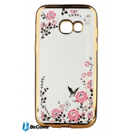 Панель Flowers Series BeCover для Samsung A520 2017 Gold