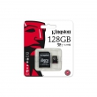 Карта памяти Kingston 128 GB microSDXC class 10 + SD Adapter SDCX10/128GB