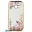 Панель Flowers Series BeCover для Samsung A320 2017 Gold