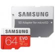 Карта памяти Samsung 64 GB microSDXC Class 10 UHS-I U3 EVO Plus + SD Adapter MB-MC64GA