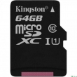 Карта памяти Kingston 64 GB C10 UHS-I Canvas 80MB/s + adapter (SDCS/64GB)