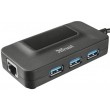 USB hub Trust Oila USB3.1 with Ethernet port (20789)